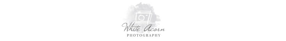 White Acorn Photography Website logo